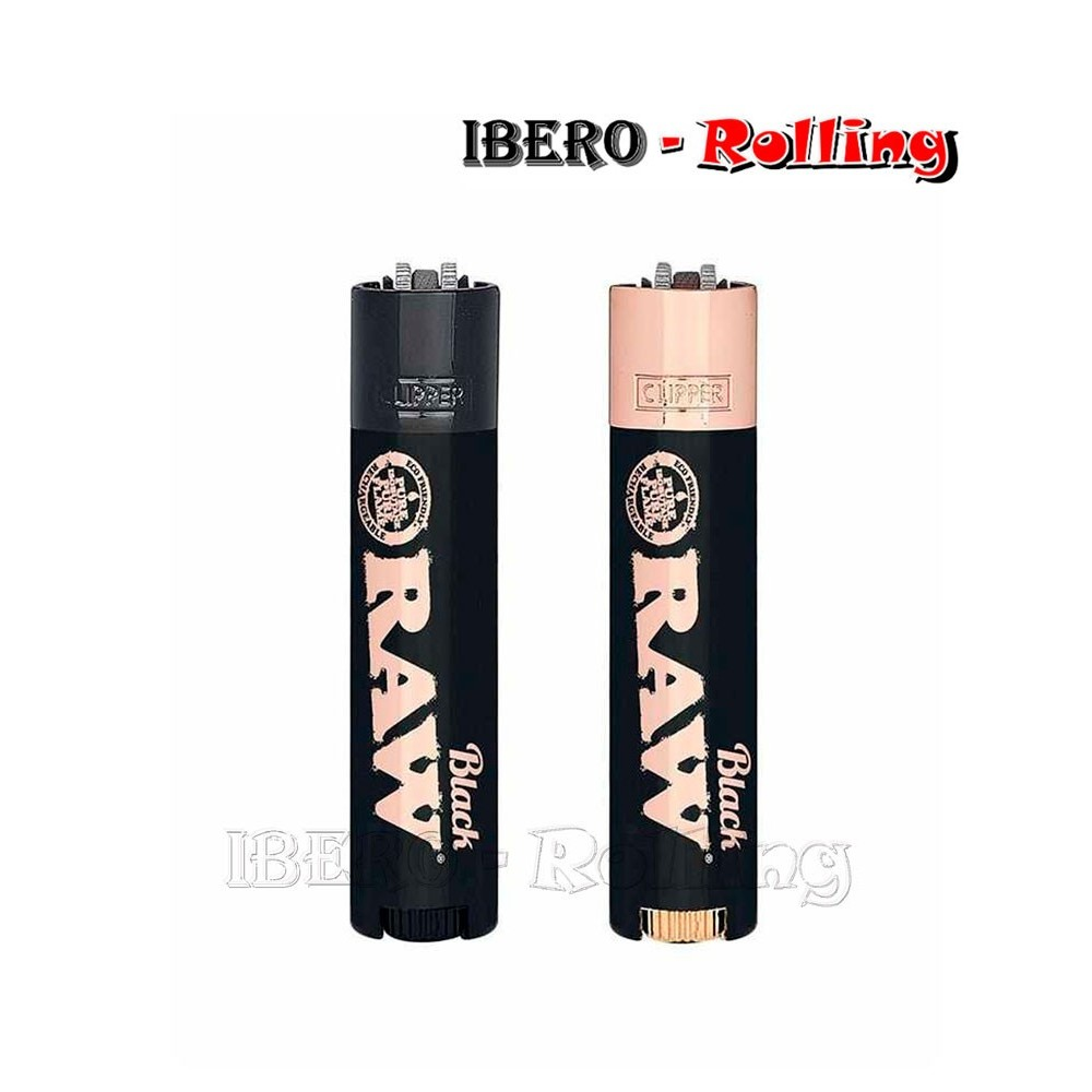 clipper metálico raw black & rose gold