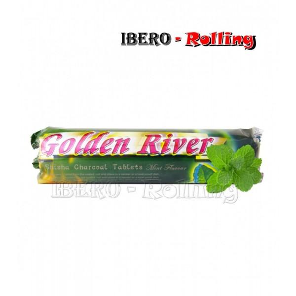 carbon golden river menta 40mm