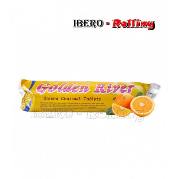 carbon golden river naranja 33mm