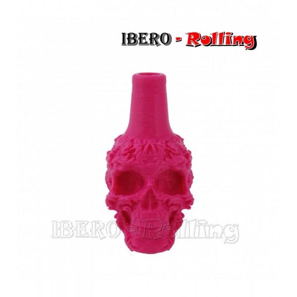 boquilla shisha calavera rosa