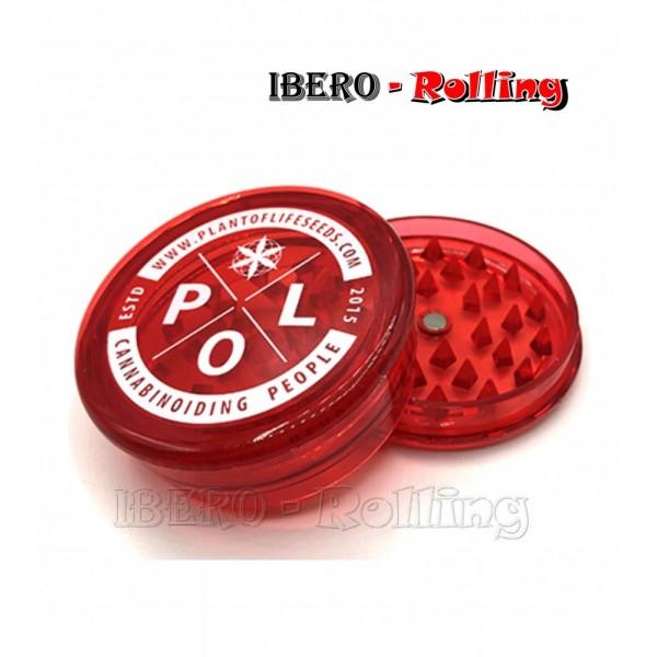 grinder plant of life rojo 60mm 3 partes