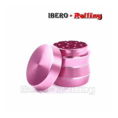 grinder kañamero metal diábolo rosa 40mm 4 partes