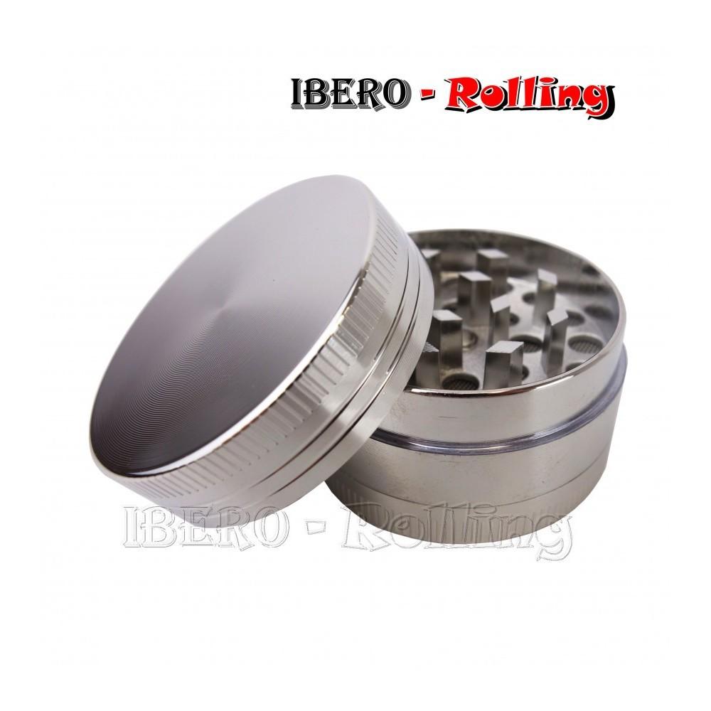 grinder kañamero metal logo 40 mm 3 partes