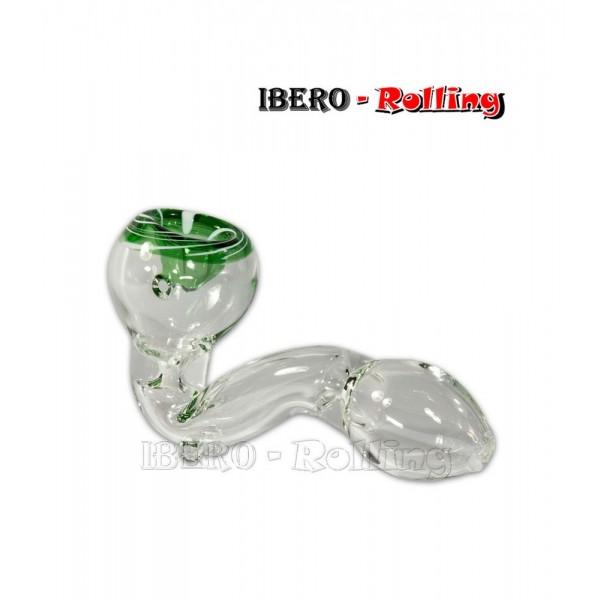 pipa cristal verde 12cm
