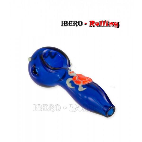 pipa cristal azul tortuga 11cm