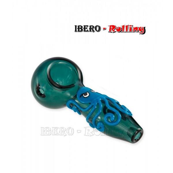 pipa cristal verde pulpo 11cm