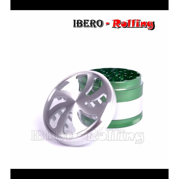 grinder tg aluminio verde 63 mm 4 partes