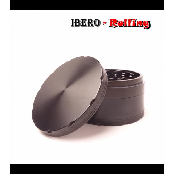 grinder metal liso negro 100mm 4 partes