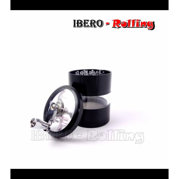grinder tg metal manivela negro 62mm 4 partes