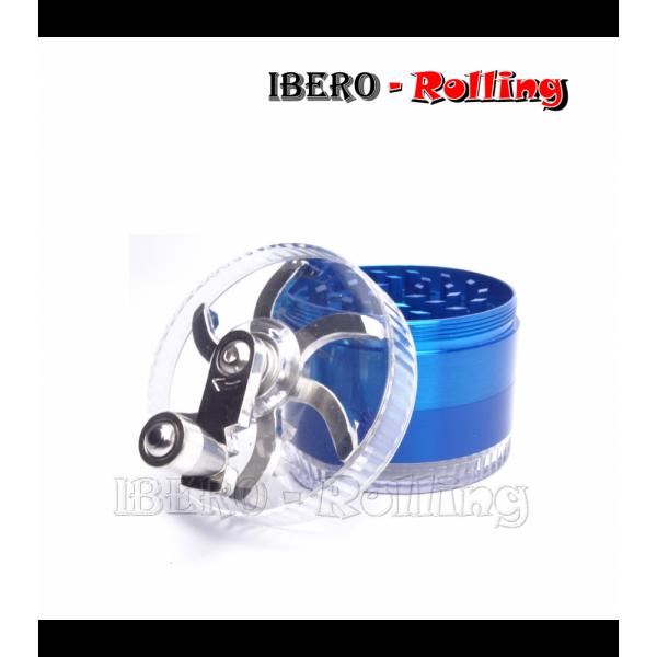 grinder tg aluminio manivela azul 60 mm 4 partes