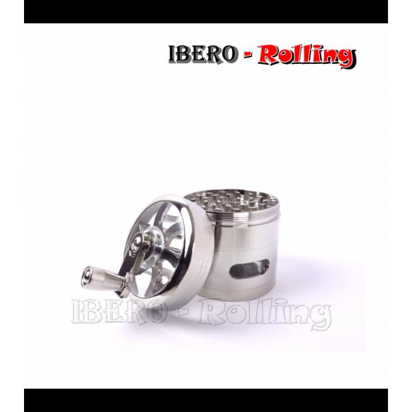 grinder tg metal manivela gris 61mm 4 partes