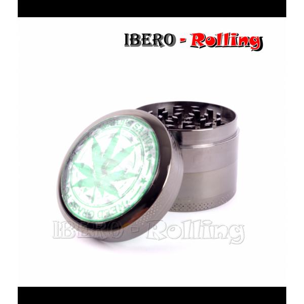 grinder kañamero metal transparente 54mm 4 partes
