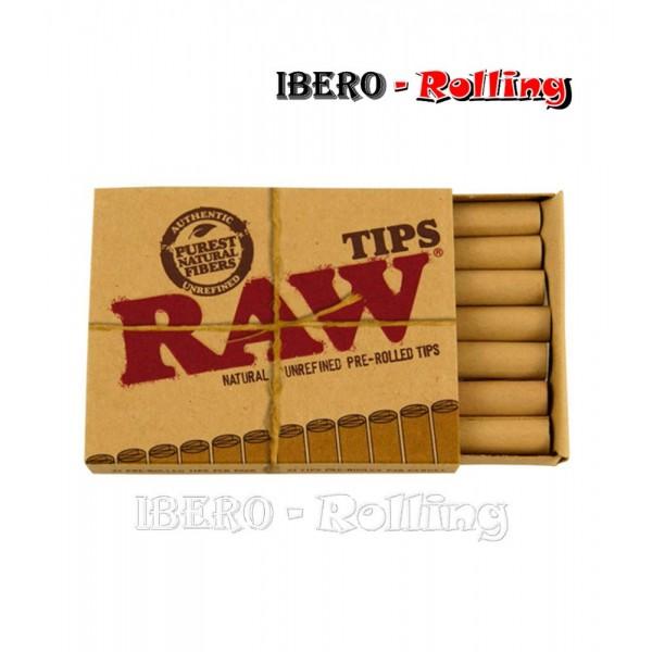 filtros raw carton pre-rolled caja 21