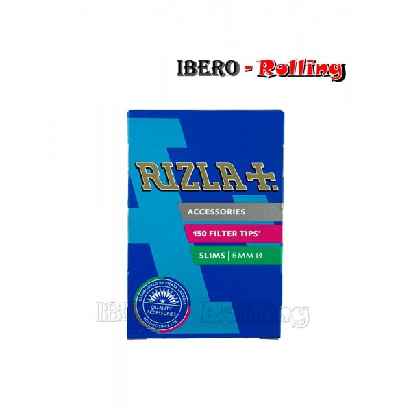 filtros rizla caja 6mm 150 filtros