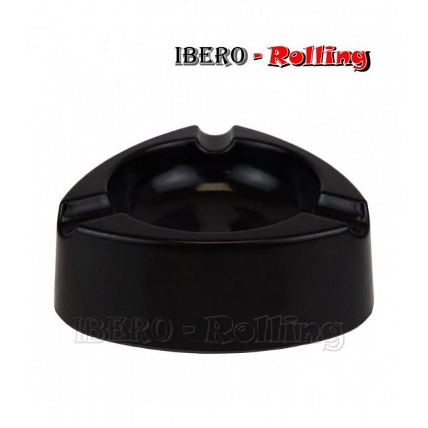 cenicero plastico negro 120mm