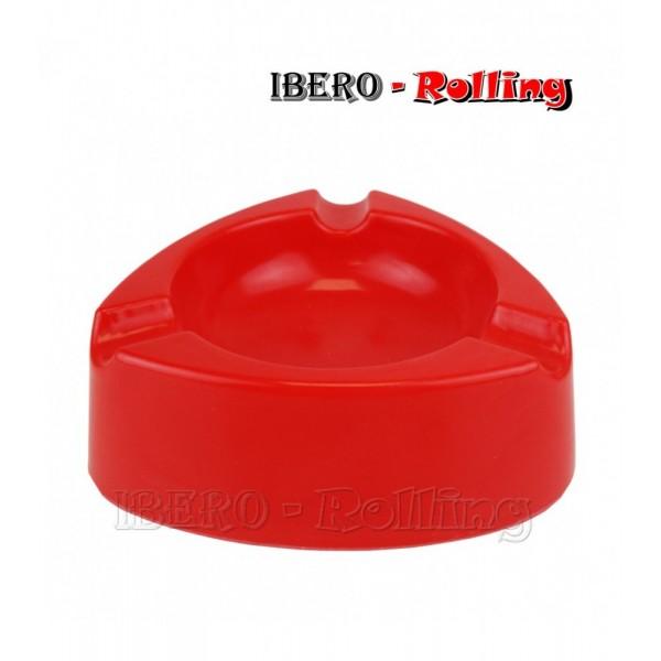 cenicero plastico rojo 120mm