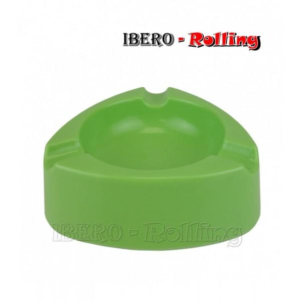 cenicero plastico verde 120mm