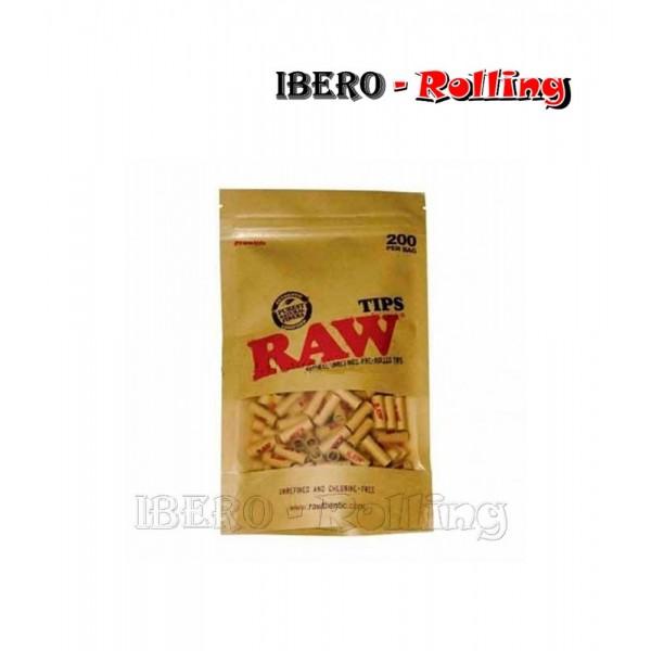 filtros raw carton prerolled bolsa 200