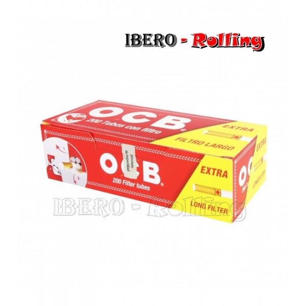 tubos ocb rojo 200 tubos